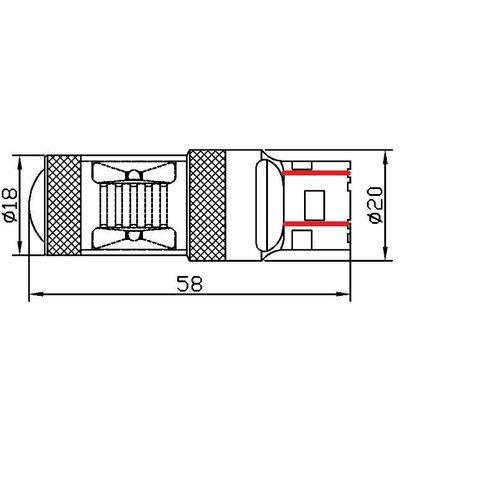 LED лампа гальмування UP-7G-T20DWB-30W(7443) (біла, 12-24 В) Прев'ю 1