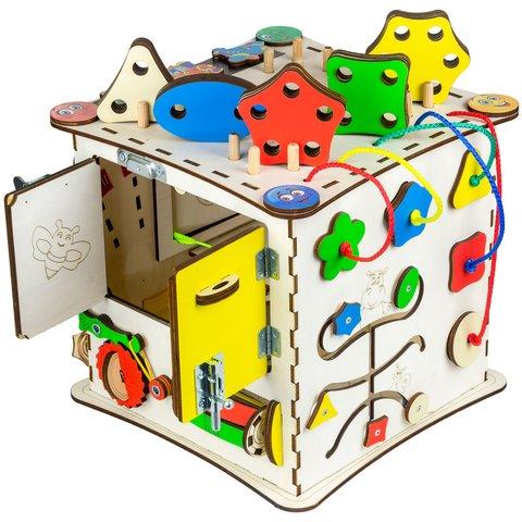 Бизиборд GoodPlay Развивающий кубик (25×25×25) Превью 5
