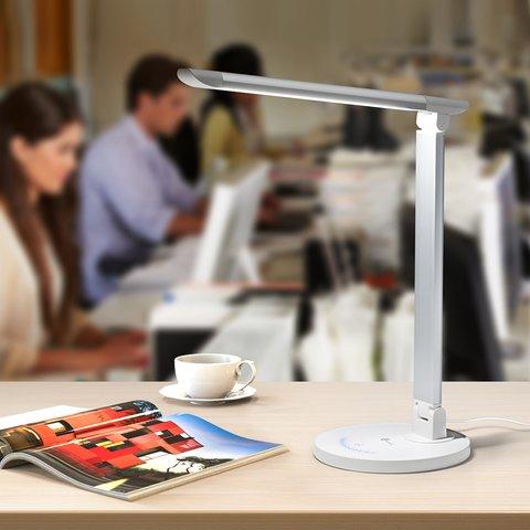 Dimmable Rotatable Shadeless LED Desk Lamp TaoTronics TT-DL13, White, EU Preview 2